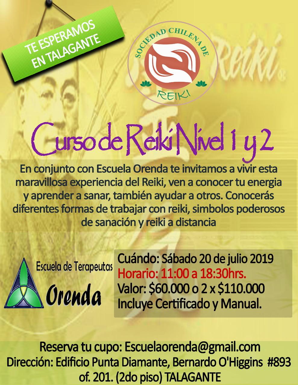 Reiki Nivel 1 y 2