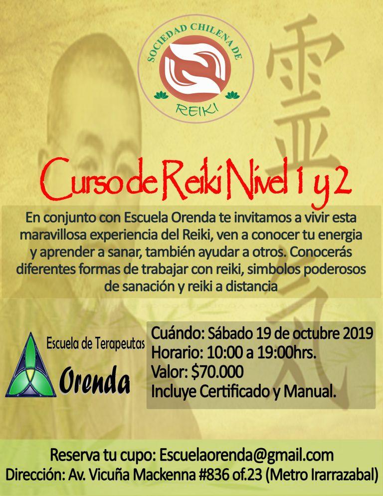 Curso de Reiki Nivel 1 y 2