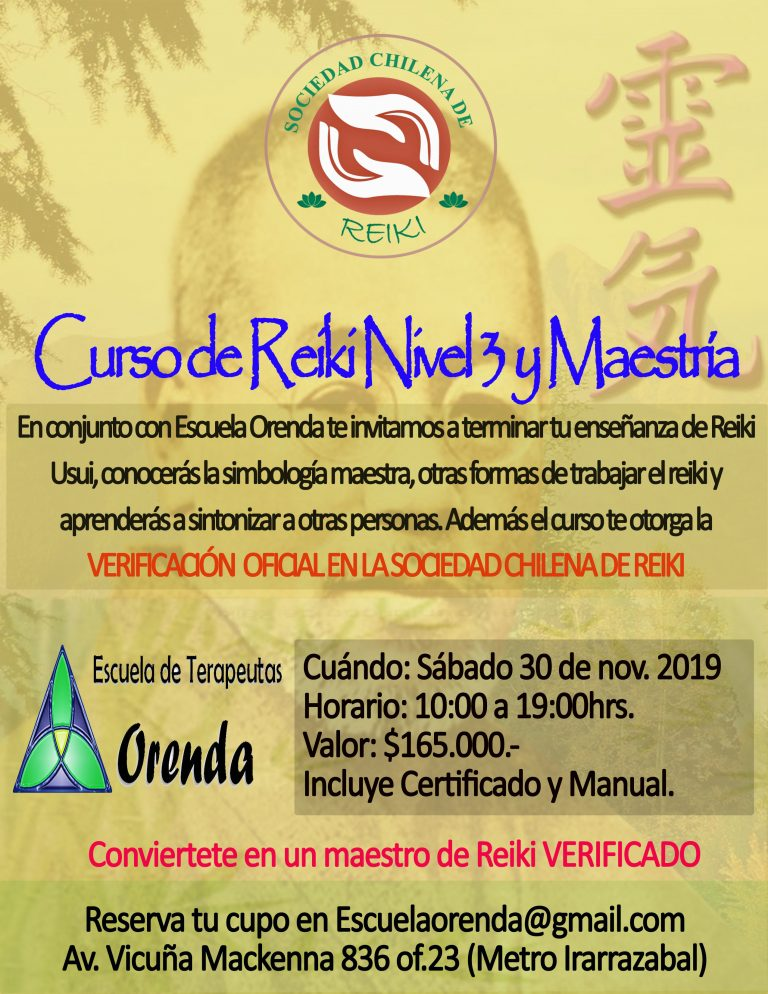 Curso Reiki 3 y Maestria
