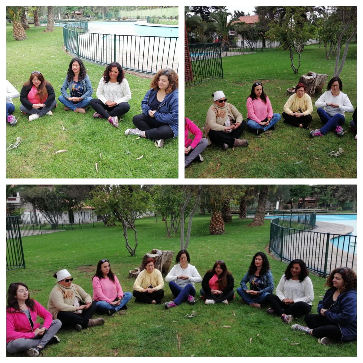 Circulo de Mujeres Comuna Padre Hurtado Meditación Consciente.