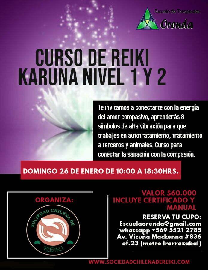 Reiki Karuna Nivel 1 y 2